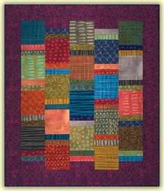 "With or Without, 57 x 67"", quilt pattern by Cheryl Wittmayer.  Shown in Marcia Derse fabrics"