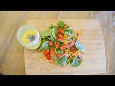 Carrot and Strawberry Salad on Cut Board - And games! - YouTube
