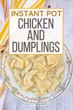 These chicken and dumplings are similar to Cracker Barrel's, and they're SO good! Using the pressure cooker makes them even easier to make. The Best Pressure Cooker Chicken and Dumplings - Margin Making Mom
