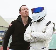 Top Gear - Behind the Scenes with Michael Fassbender (gif).