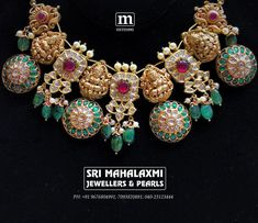 Precision made outlandish temple jewellery! This extraordinary combination of temple work and kundans is sure to make you a Head Turner! Check out the exquisite at Jubilee Hills store showroom on Road 22 November 2018 Indian Wedding Jewelry, Indian Jewelry, Bridal Jewellery, Latest Jewellery, Jewellery Designs, Ethnic Jewelry, Indian Bridal, Royal Jewelry, Gold Jewelry