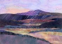 Jo Diggs hand applique landscape