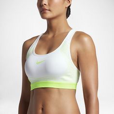 460c2066541d6 Nike Pro Hyper Classic Padded Women s Medium Support Sports Bra White  Nikes