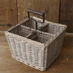Basket With Handle & Four Compartments