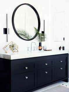 Black Vanity + Mirror