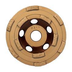 """Makita A-95009, 5"""" Diamond Double Row Cup Wheel https://cf-t.com/makita-a-95009-5inch-diamond-double-row-cup-wheel"""