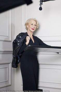 Because she's worth it!Dame Helen Mirren continued to cement her on-screen status by taking part in the new Perfect Age campaign for L'Oreal Paris, which will air on Friday 6th February