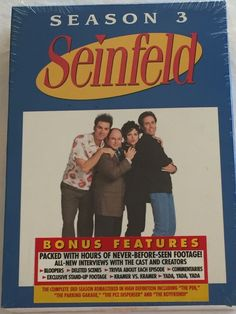 Seinfeld Season 3 DVD Box Set Complete New Sealed Volume 2 TV Comedy Sit Com