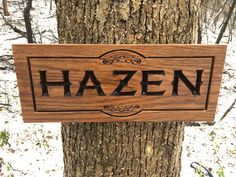 Custom Engraved Wood Sign with Name, Family Name Wood Sign, Custom Wood Sign, Personalized Wood Sign, Housewarming Gift, Engraved Wood Sign