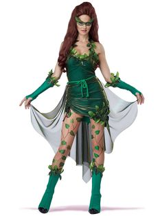 Are you Batman Poison Ivy Costume Ideas for Halloween or Cosplay? You find loads of great poison ivy costume ideas along with makeup tutorials, accessories Poison Ivy Halloween Costume, Costumes Sexy Halloween, Villain Costumes, Adult Costumes, Costumes For Women, Cosplay Costumes, Holiday Costumes, Halloween Party, White Costumes