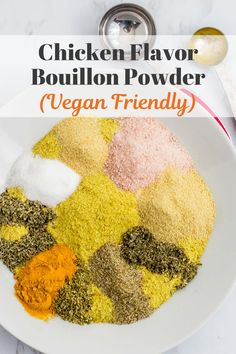 Vegan Chicken Flavor Bouillon Powder - Tired of numerous cartons of veggie and chicken broth taking up your pantry spaces? I've got just the thing for you! #veganrecipe #brothrecipe Poultry Seasoning, Seasoning Mixes, Chicken Seasoning, Seasoning Recipe, Vegetarian Options, Vegan Options, Vegetarian Recipes, Vegan Ideas, Vegan Butternut Squash Soup
