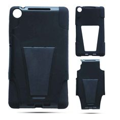 Unlimited Cellular Hybrid Fit On Jelly Case for LG Nexus 7 (Black Skin and Black Snap with Stand) Jelly Case, Nexus 7, Fit, Black, Shape, Black People