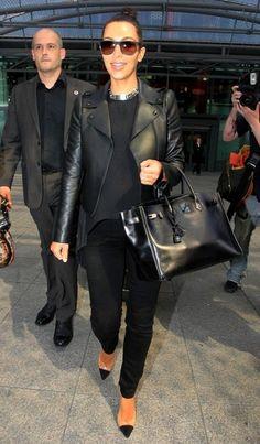 Kim Kardashian Photo - Kim Kardashian Lands in Leather