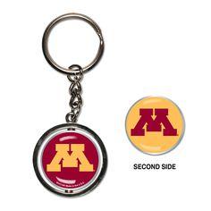 University of Minnesota Spinner Keychain - Sunset Key Chains