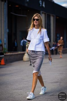 New York Fashion Week SS 2016 Street Style: Sarah Rutson
