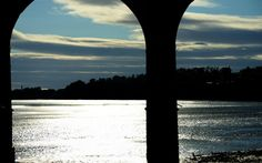 Silhouette of the Runcorn/Widnes Railway Bridge at the Widnes side, Cheshire. Copyright © 2013 Kevan R. Craft