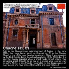 Chaonei No. 81 - 'World of the Paranormal' are short bite sized posts covering paranormal locations, events, personalities and objects from all across the globe. Follow The Paranormal Guide at: www.theparanormalguide.com/blog