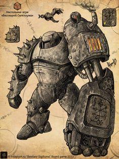 Manus_mechanical_arm by George Vostrikov Arte Robot, Robot Art, Dnd Characters, Fantasy Characters, Fictional Characters, Fantasy Character Design, Character Inspiration, Game Character, Character Concept