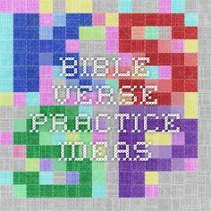 Bible Verse Practice Ideas