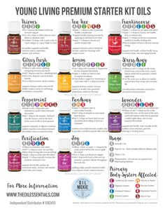 Young Living Essential Oils: Premium Starter Kit (PDF on Blog)