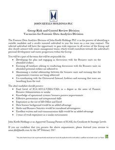 Forensic Data Analyst at John Keells Holdings PLC Accounting Jobs, Data Analytics, Forensics, Finance, Career, Positivity, Carrera, Economics, Optimism