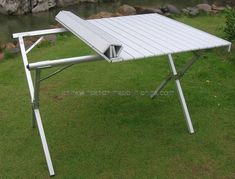 Camping Table Folding Aluminum Portable Bench Roll up Picnic Beach Table. Camping Items, Diy Camping, Camping Hacks, Outdoor Camping, Camping Products, Camping Supplies, Table Camping, Picnic Table, Folding Camping Table