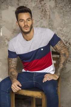 T Shirt Sewing Pattern, Hot Guys Tattoos, Urban Fashion, Mens Fashion, Camisa Polo, Men Design, Polo T Shirts, Men Looks, Mens Tees