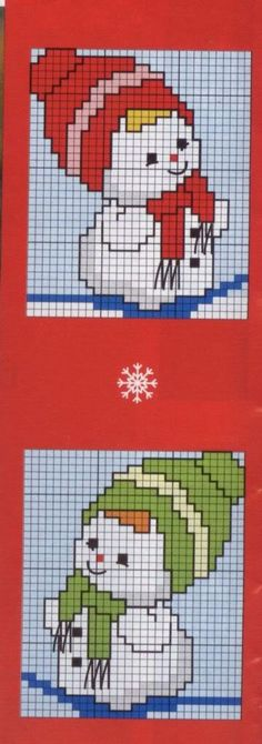 Diagrame pentru bluze sau pulovere - Tricotaje pentru bebelusi si copii partea a 3-a Cross Stitch Christmas Ornaments, Xmas Cross Stitch, Christmas Embroidery, Christmas Cross, Cross Stitch Charts, Cross Stitching, Cross Stitch Embroidery, Cross Stitch Patterns, Crochet Quilt