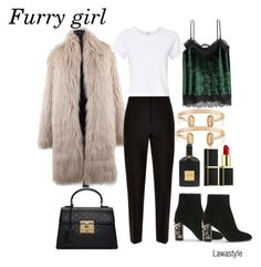"""""""Furry girl"""" by lawastyle on Polyvore featuring By Malene Birger, Jaeger, RE/DONE, Gucci, Kendra Scott and Tom Ford"""
