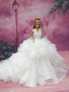 Wedding gown for Fashion Royalty 12 inches doll#FR79
