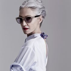 linda rodin and her fabulous hair, photographed by gabor jurina, vickiarcher.com