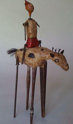 Horse and Rider -Artist Chari Roberts Peak