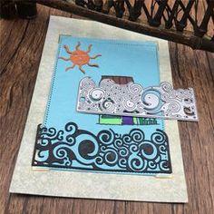 half picture frame cut dies stencil scrapbooking album paper card embossing CO Scrapbooking Album, Scrapbook Paper Crafts, Diy Scrapbook, Scrapbook Albums, Stencil Diy, Stencils, Cadre Photo Diy, Paper Craft Supplies, Diy Frame