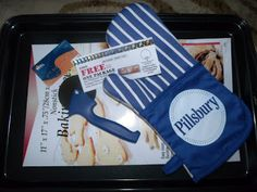 VIP coupon for New Pillsbury Artisan Pizza Crust with Whole Grain •$10 gift card (ingredients) • Baking sheet •Oven mitt •Pizza cutter