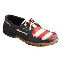 Twisted X Women's VFW Red White & Blue Moc Toe Driving Shoes