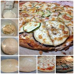 Pizza-vegetal-collage Masa Pizza Integral, Real Food Recipes, Healthy Recipes, Healthy Food, Fodmap, Fajitas, Sin Gluten, Vegetable Pizza, Zucchini
