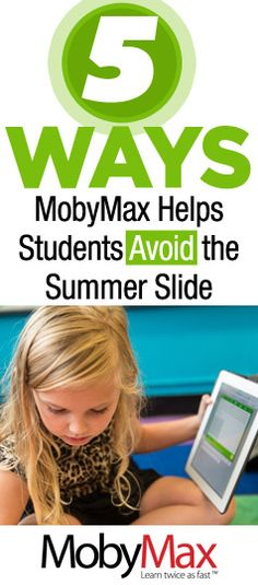 Did you know that most students lose about two months of grade level equivalency in math skills during summer break? MobyMax is a FUN and FREE tool to help students keep their skills sharp in reading, math, science, social studies, and more. MobyMax is specifically designed for teachers.