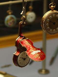 antique violin shaped watch | collectibles