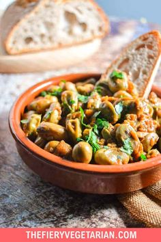 Looking for some easy vegan tapas ideas? Look no further, I've got you covered with this fresh or frozen fava bean recipe. Young fava beans (or baby broad beans, make sure they are green, not brown) cooked up in white wine with onions and garlic, perfect for scooping up with some fresh crusty bread. Serve with other Spanish appetizers for the perfect healthy party platter or casual dinner party meal. They're even vegan! Make them today in just under half an hour. Spicy Vegetarian Recipes, Vegetarian Appetizers, Vegetarian Lunch, Meatless Recipes, Tapas Ideas, Lunch Ideas, Dinner Ideas, Spanish Appetizers, Meals