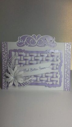 Crafty card using tonic header dies also sue wilsons classic weave… Sue Wilson Dies, Spellbinders Cards, Birthday Cards For Women, Card Companies, Die Cut Cards, Card Making Techniques, Flower Cards, Anniversary Cards, Card Ideas