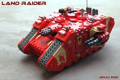 Land Raider built out of Legos :o Photostream also has Space Marines and Orks!