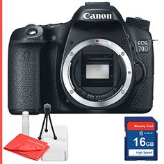 Canon EOS 70D Body only and 16GB Sd memory card class 10