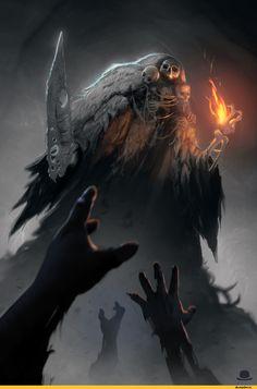 Dark Souls,фэндомы,DS art,Gravelord Nito,DS персонажи
