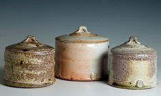 Ceramics by Stephen Parry at Studiopottery.co.uk - Three jars, 2008.