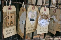 These tags are adorablae - go see her blog for a million more she did for a wedding - inspiring!