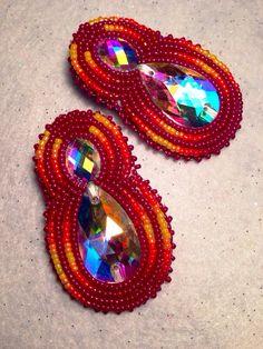 Native American Beaded Earrings long set by KianiKine on Etsy, $30.00