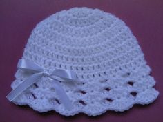 Crochet Baby Blanket and Baby Hat Set Gift Christening Baptism