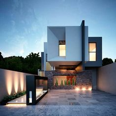 architecture,rendering-House Roka Arquitectos 📐Located in Mexico📍🇲🇽repost artsytecture __architecture rendering designers archit Architecture Design, Minimalist Architecture, Facade Design, Residential Architecture, Exterior Design, Minimalist House Design, Modern House Design, Photo D'architecture, Modernisme