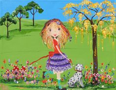 Me and Spotty from my whimsical girls artworks by Peta E. More info about me at my website www.petae.com.au