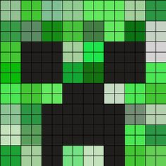 Minecraft Creeper Face Perler Bead Pattern